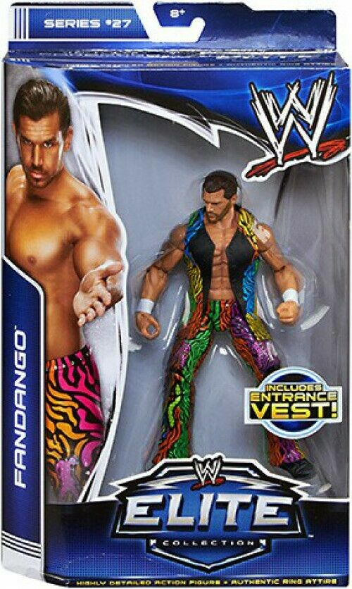 WWE Wrestling Elite Collection Serie 27 Figura de Acción Fandango [] Chaleco de entrada