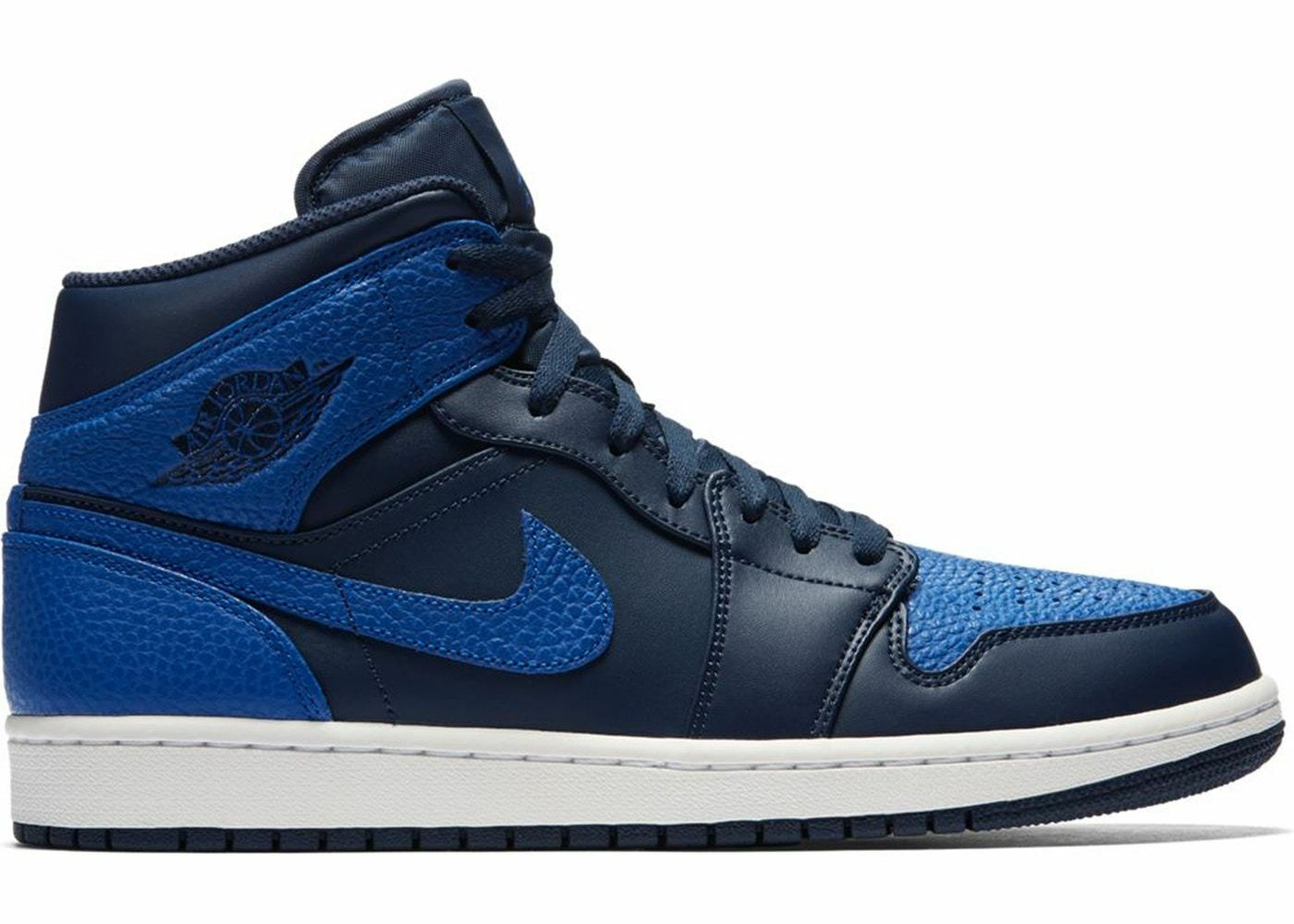 Air Air Air Jordan 1 One Retro Mid Obsidian Game Royal blu 554724-412 Dimensione 8-13 d87b1c