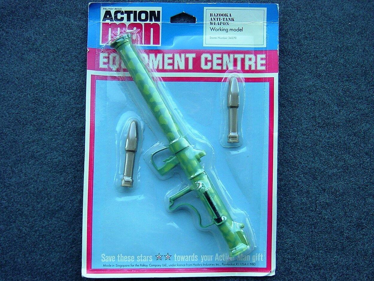 VINTAGE GI JOE ACTION MAN Bazooka, MINT ON CARD PALITOY