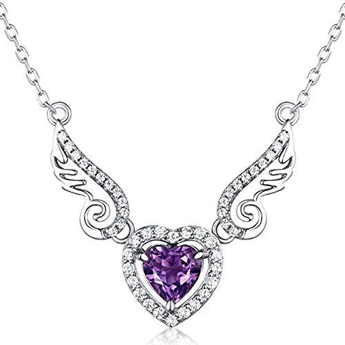 Pendants Valentine&39s Day Gifts, Natural Gemstone Amethyst &quotAngel Sterling
