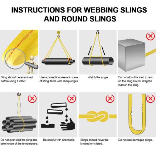 webbing sling instruction