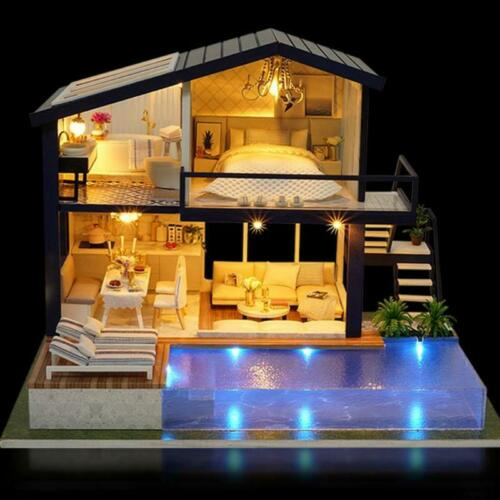 Furniture Diy House kids Gift Doll House for Lol Surprise Made with real wood