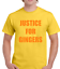 JUSTICE FOR GINGERS MENS T SHIRT TOP FUNNY JOKE DESIGN RED HAIR GINGER HAIR COOL