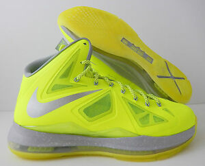 detailed look 2cded e4618 Image is loading NIKE-LEBRON-10-X-034-vOLT-DUNKMAN-034-