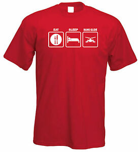 EAT-SLEEP-SNOWBOARD-HANG-GLIDE-GOLF-GRILL-FUN-T-SHIRT