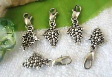 25PCS Tibetan silver Grape clip on Charms W28477