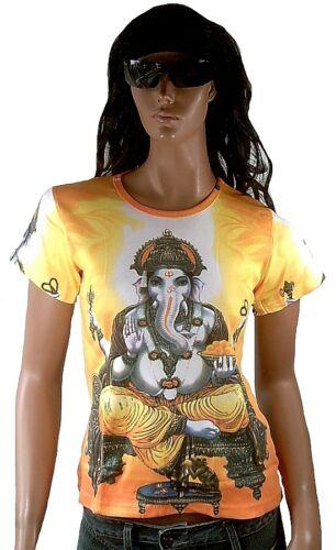 Lord déesse indienne Ganesh popular Hindou Dieu goa beach party DJ CREATEUR vip t-shirt M