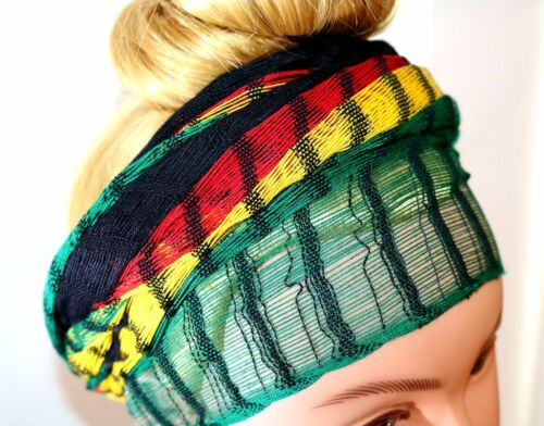 Headwrap Scarf Reggae Broad Stripes Guatemalan Multicolor Sheer