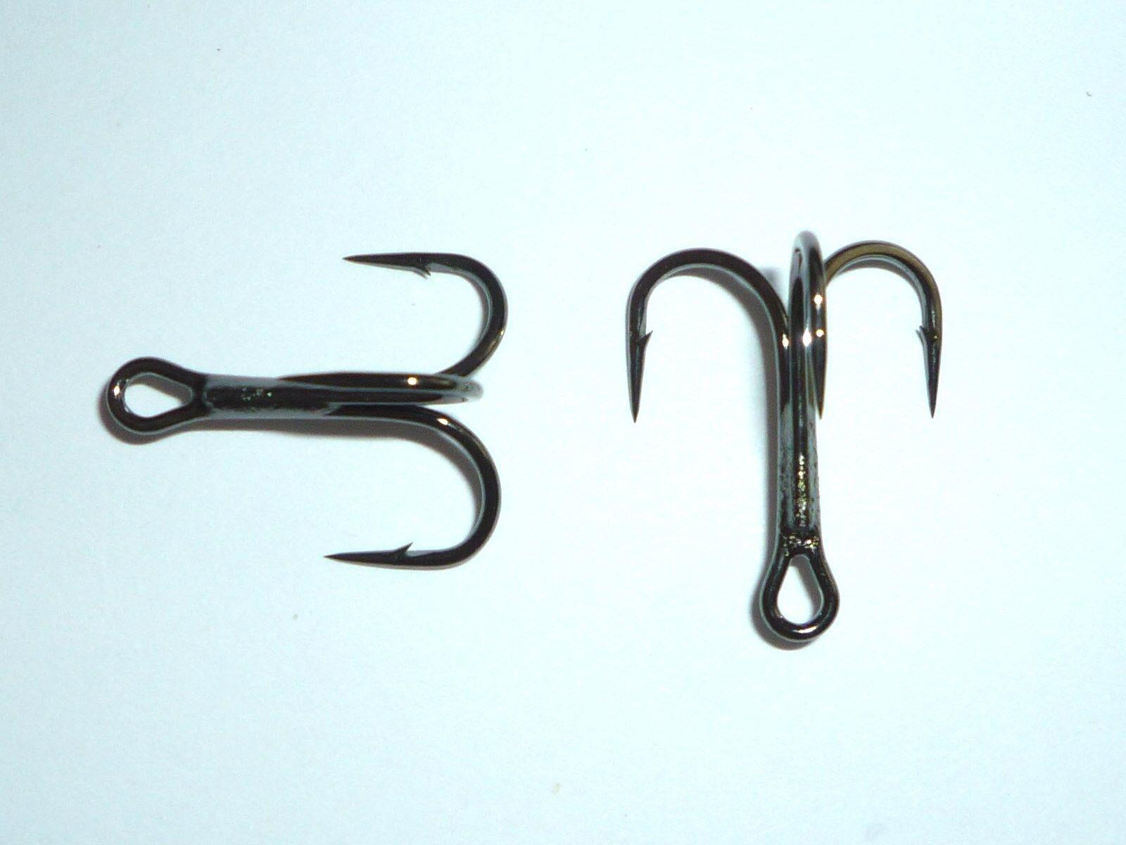 100 Mustad KVD-Elite Round-Bend 1X Treble Hooks (Size 6) TR78NP-BN UltraPoint