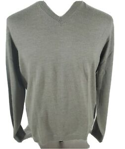 Banana republic Mens merino Extra Fine Merino Wool V Neck Sweater Size L green