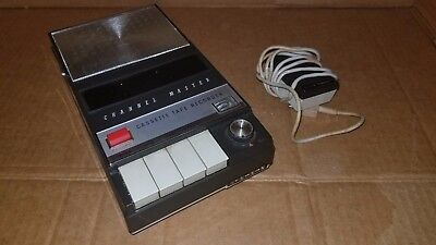 Channel Master Tape Recorder wMicrophone  Cassette Recorder  Vintage  Portable  A MUST!!