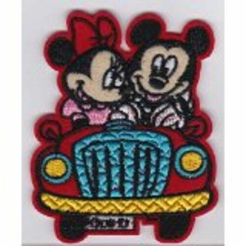 DISNEY'S MICKEY & MINNIE MOUSE OUT FOR A CRUISE EMBROIDERED PATCH