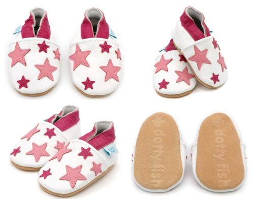 *DISCONTINUED* NEWBORN 0-6 MONTHS Dotty Fish Soft Leather Baby and Toddler Shoes