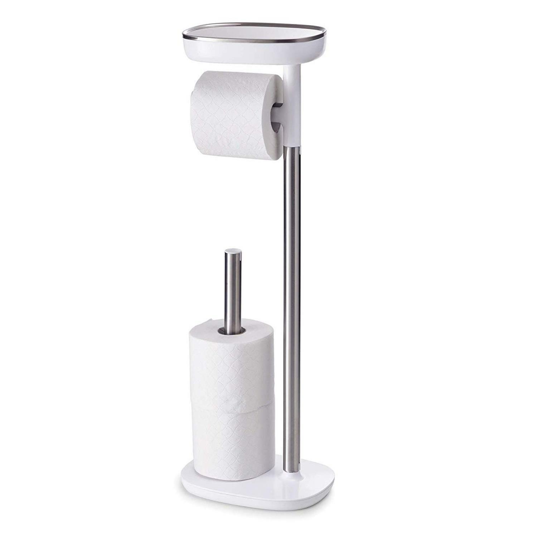 Joseph Salle de Bain Easystore Debout Papier Toilette 4 Support Rouleau - Blanc