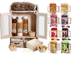 BRUBAKER-Cosmetics-Womens-Ladies-Her-Bath-Body-Pamper-Gift-Set-in-Wooden-Cabinet