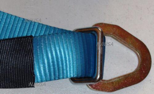 4 Sets Axle Straps Car Hauler Trailer Auto Tie Down Ratchet Straps Tow Kit BLUE