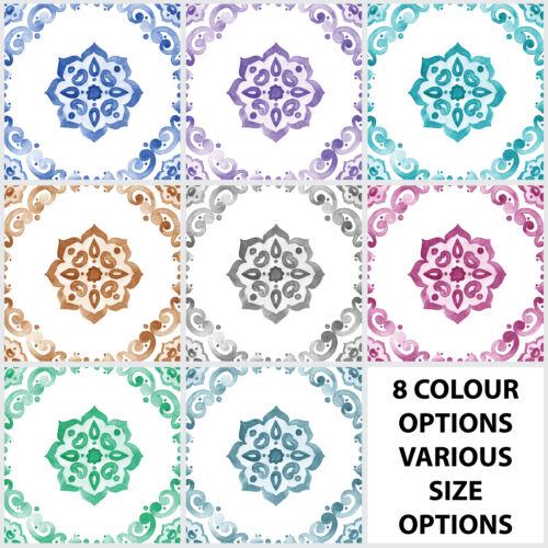 Tuile Stickers Transferts traditionnel DELFT aquarelle de Cuisine Personnalisé-Taille T10