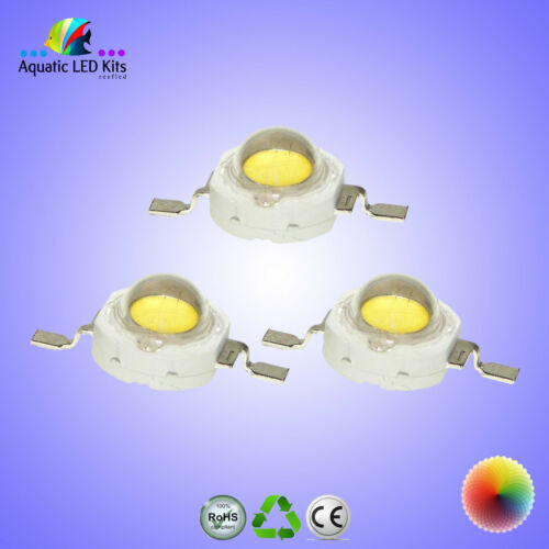 1W & 3W EPISTAR,Bridgelux,Epiled High Power LED Chip,Aquarium,Grow Light DIY UK