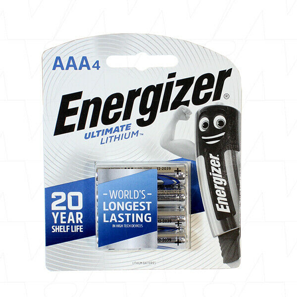 6 x Energizer Ultimate Lithium Battery AAA 1.5V L92-BP4