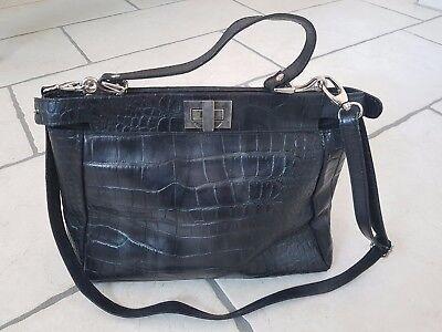 Damen Shopper schwarz Handtasche Tasche Damentasche