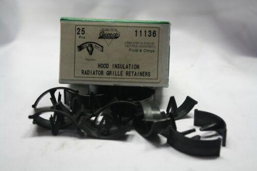 25PCS PER BOX//BAG. AUVECO #11136 HOOD INSULATION RADIATOR GRILLE RETAINERS