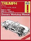 Triumph TR2/3/4 Owner's Workshop Manual by Haynes Publishing Group (Paperback, 2013)