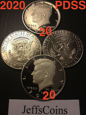 2020 P D S S UNCIRCULATED Mint Set Kennedy Half Dollars Silver /& Clad Proof PDSS