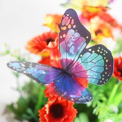 18pcs 3D Butterfly Crystal Decoration Wall Sticker Home Wall Decor Wall Decals