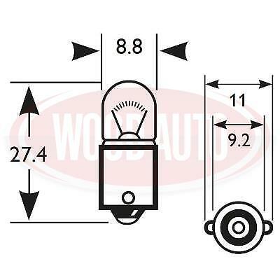 GUARDIAN 249 BULB 1 x 24v 4w SIDE  /& MARKER /& DASH LIGHT BULBS 249 X 1