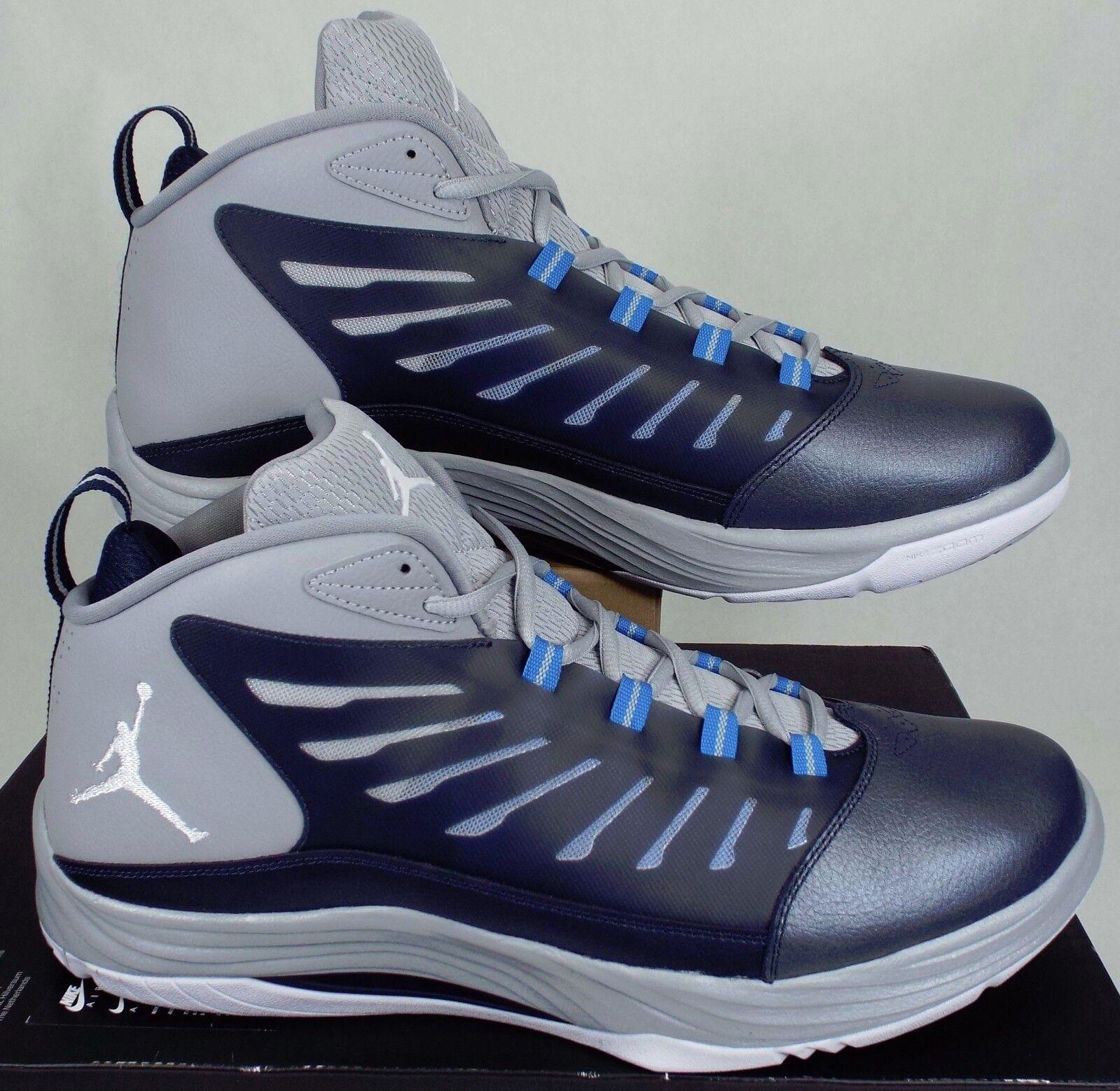 New Mens 16 NIKE Jordan PrimeFly Shoes 2 Navy Grey Basketball Shoes PrimeFly 120 654287-407 607943