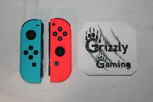 NEW-Nintendo-Switch-Red-Blue-Joycons-w-Straps-amp-Joy-con-L-R