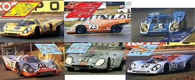 Calcas Porsche 917 LH Le Mans 1971 17 18 21 1:32 1:24 1:43 1:18 slot decals