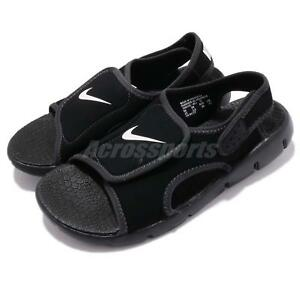 623249182 Nike Sunray Adjust 4 GS PS Black White Kid Youth Sports Sandal Shoes ...