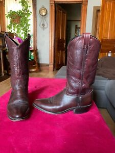 45e50e8b0b9 Details about Burgundy Red Cowboy Boots Mens 9 D Sheplers Leather Distressed