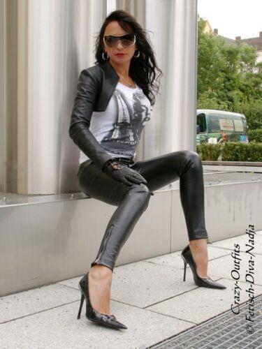 Xxxl Xs Lowwaist Black 58 Taglia 32 Pantaloni di Pantaloni Knalleng pelle pelle di gpwPT70q