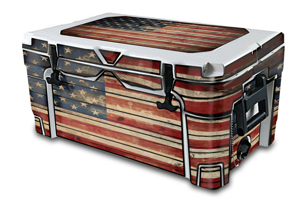 USATuff Decal Wrap Full Kit Kit Kit fits IGLOO Sportsman 70qt Cooler Old Glory e70597
