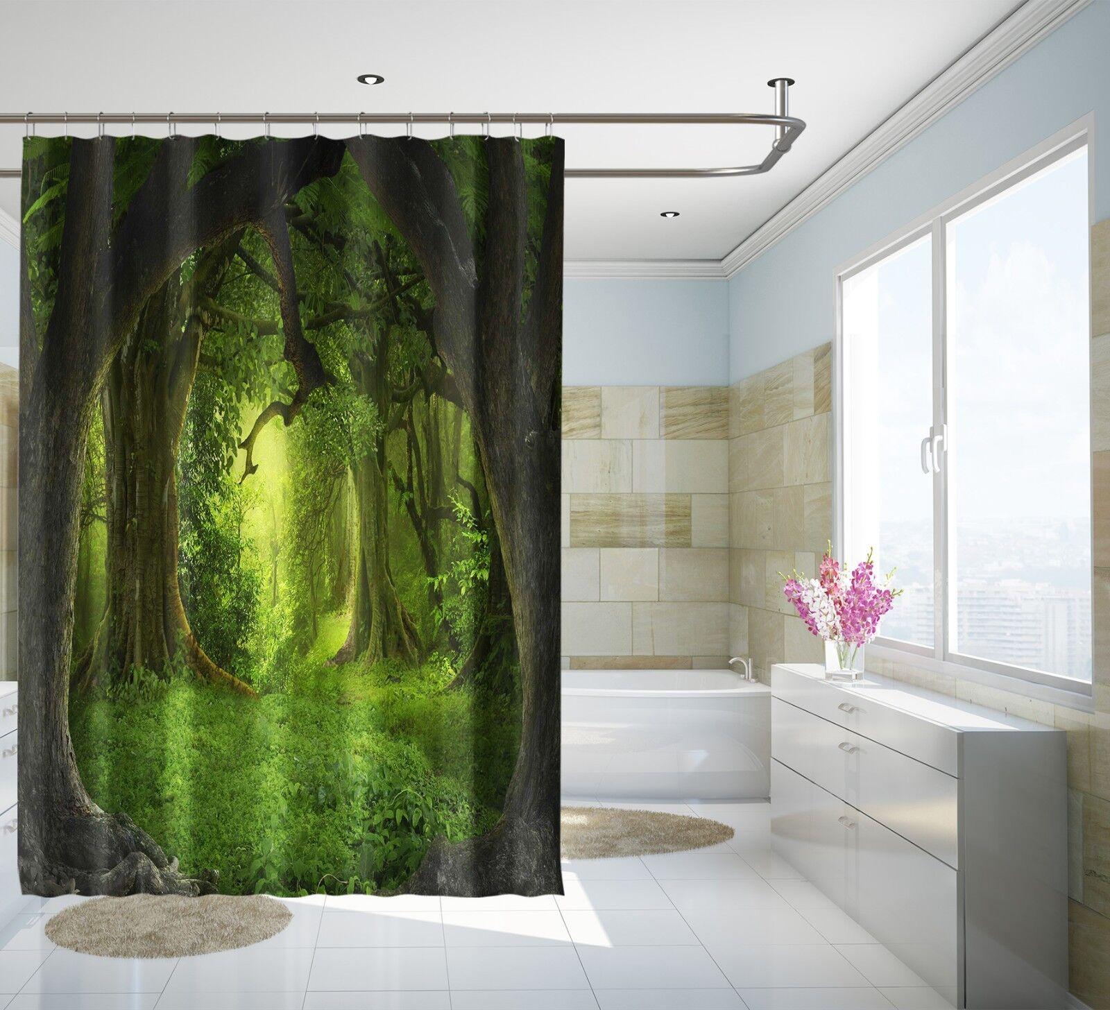 3D 3D 3D Grüner Wald 31 Duschvorhang Wasserdicht Faser Bad Daheim Windows Toilette DE | Zürich  fb7e2f