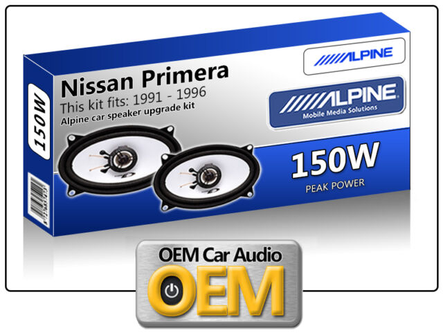 Nissan Primera Front Door speakers Alpine car speaker kit 150W Max power 4x6