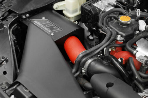 SALE AEM Cold Air Intake System Air Box for 2018-2019 WRX STi Wrinkle Red 22HP