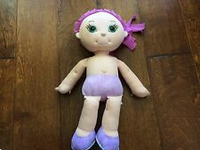 """doodle girl doll, no pens, write with washable marker, then throw in washer,18"""""""
