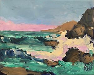 Northwest-Coast-Original-Expression-Seascape-Oil-Painting-8x10-102817-KEN