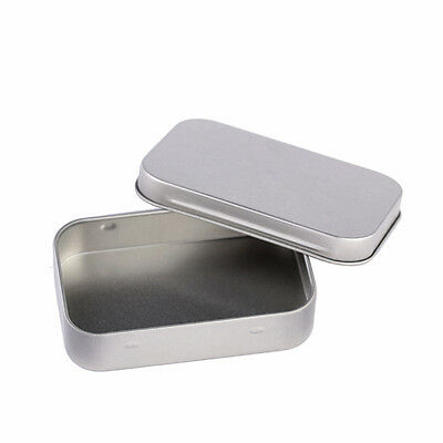Small Empty Silver Flip Organizer Collectible Storage Case Cigarette Box