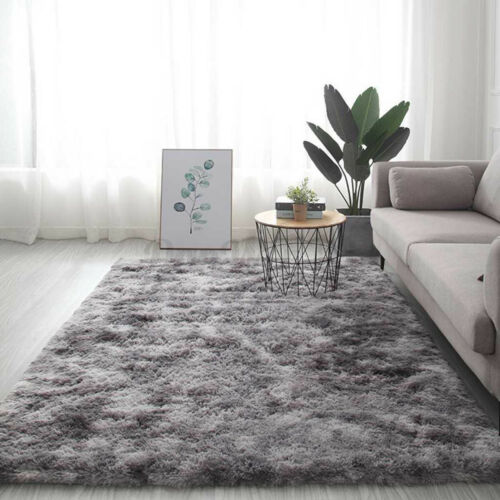 63x79inch Shaggy Area Rugs Anti-Skid Fluffy Carpet Floor Mat Bedroom Home Decor
