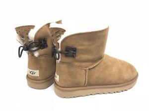 1c7c0d536c8 Details about Ugg Australia Women's Adoria Tehuano Pencil Chestnut 1016665  Short Suede Boots