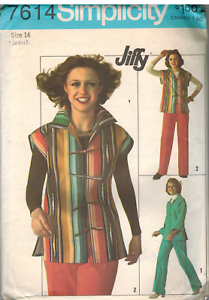 7614 Vintage Simplicity Sewing Pattern Misses Jiffy Unlined Jacket Pants UNCUT