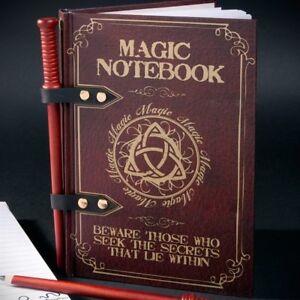 Magic-Wand-Notepad-Cahier-Couverture-Rigide-Design-Livre-Sorts-Crayon-Baguette