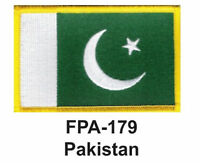 2-1/2'' X 3-1/2 Pakistan- Flag Embroidered Patch