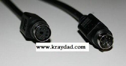 Mini Din 6 Pin PS2 6 ft Black Extension Cable MF Minidin