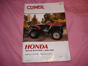honda rancher 350 service manual