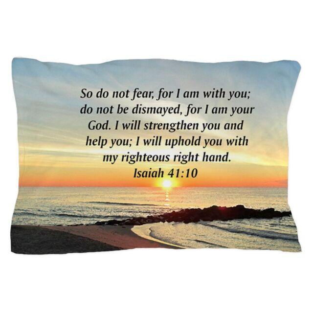 "1321613694 20/""x30/"" CafePress ISAIAH 41:10 Standard Size Pillow Case"